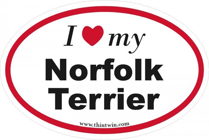 Norfolk Terrier Oval Car Sticker