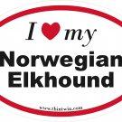 Norwegian Elkhound Oval Car Sticker