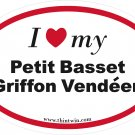 Petit Basset Griffon Vendeen Oval Car Sticker