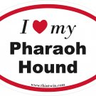 Pharaoh Hounds Oval Car Sticker