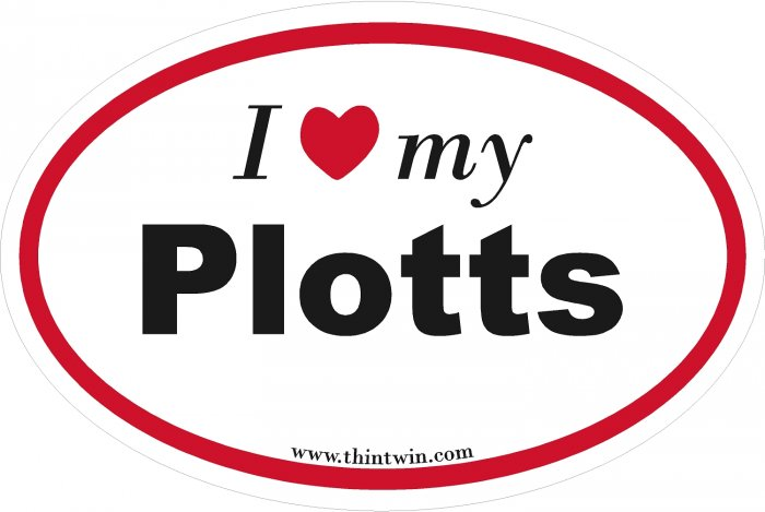 Plotts Oval Car Sticker