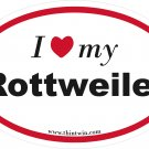 Rottweiler Oval Car Sticker