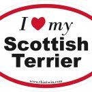 Scotish Terrier Oval Car Sticker