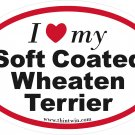 Softcoated Wheaton Terrier Oval Car Sticker