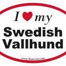 Swedish Vallhund Oval Car Sticker