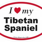 Tibetan Spaniel Oval Car Sticker