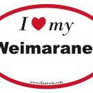 Weimaraner Oval Car Sticker