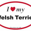 Welsh Terrier Oval Car Sticker