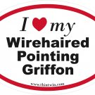 Wire Haired Pointing Griffon Oval Car Sticker