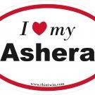 Ashera Oval Car Sticker