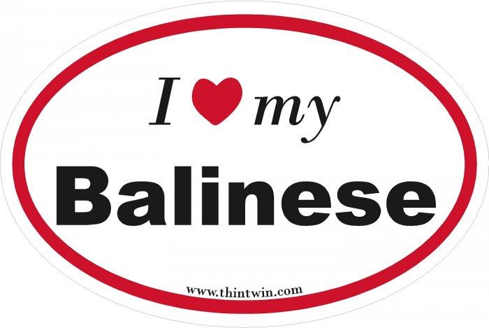 Balinese Oval Car Sticker