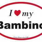 Bambino Oval Car Sticker