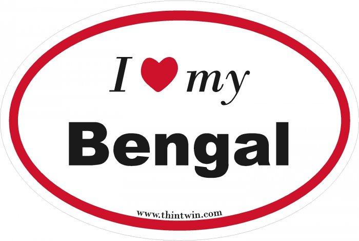 Bengal Oval Car Sticker