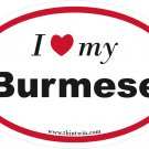 Brumese Oval Car Sticker