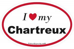 Charteux Oval Car Sticker