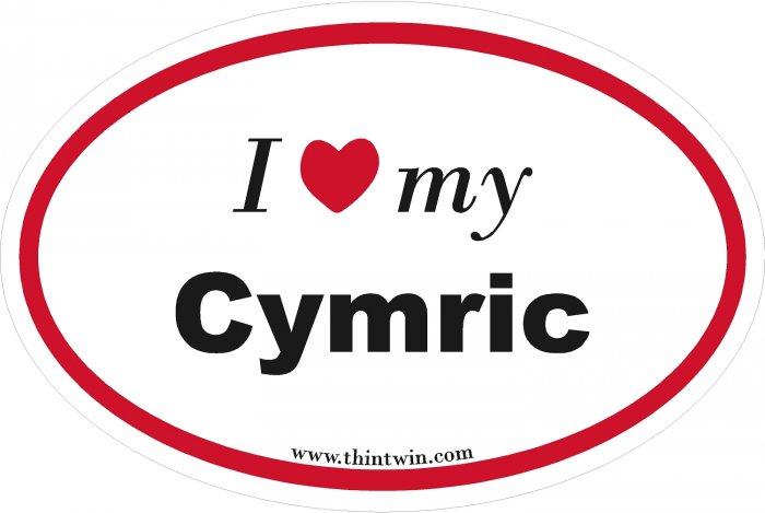 Cymric Oval Car Sticker