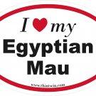 Egyptian Mau Oval Car Sticker
