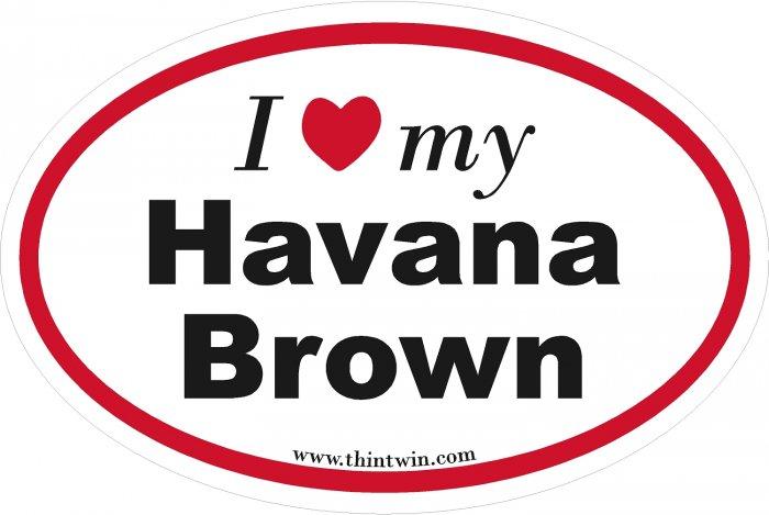 Havana Brown Oval Car Sticker