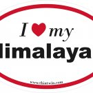 Himalayan Oval Car Sticker