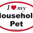 Household Pet Oval Car Sticker