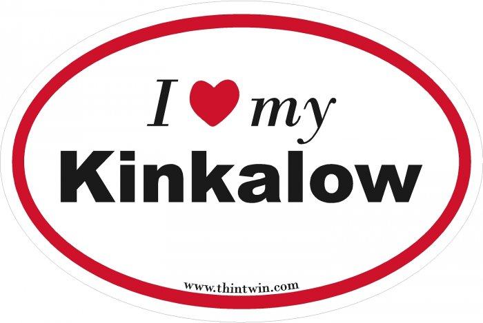 Kinkalow Oval Car Sticker