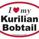 Kurilian Bobtail Oval Car Sticker