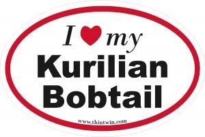 Kurilian Bobtail Oval Car Sticker