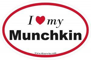 Munchkin Oval Car Sticker