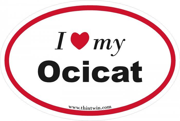 Ocicat Oval Car Sticker