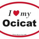 Ocicat Oval Car Sticker