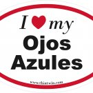 Ojos Azules Oval Car Sticker