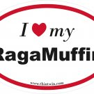 Ragamuffin Oval Car Sticker
