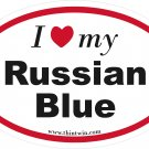 Russian Blue Oval Car Sticker