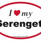 Serengeti Oval Car Sticker