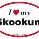 Skookum Oval Car Sticker