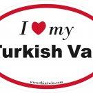 Turkish Van Oval Car Sticker
