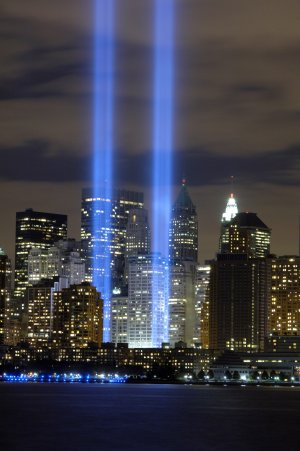 9/11 Tribute in Light  Wall Graphic