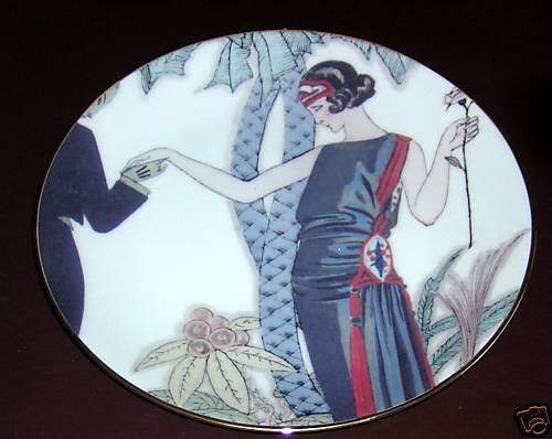 FITZ & FLOYD Fashion Plates- La Plume - Collector plate