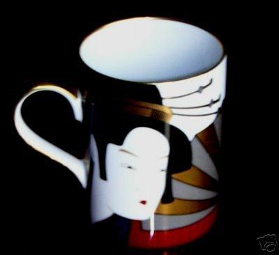 FITZ & FLOYD Geisha Pattern Mug -- It's fabulous!