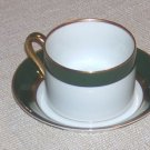 FITZ & FLOYD RENAISSANCE BLACK & WHITE CUP AND SAUCER