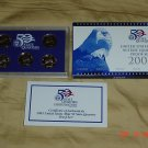 United States Mint 2005 Clad Proof  Quarter Coin Set.