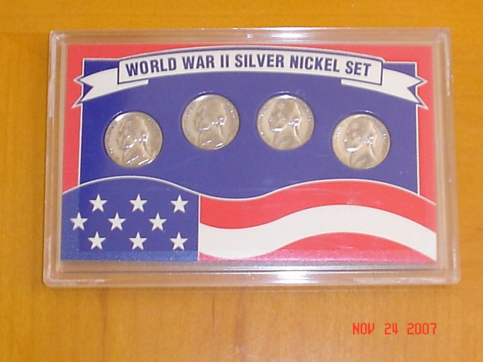 World War 2 Silver Nickle Coin Set.