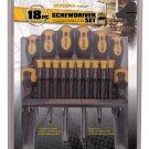 18 Piece Screwdriver Set with Rack