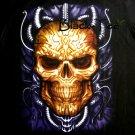 HEAD SKULL BLACK TATTOO ROCK TEE T SHIRT Size L / D30