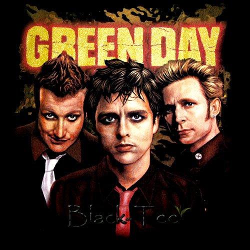 GREEN DAY BLACK TEE PUNK ROCK T SHIRT SIZE XL / D75