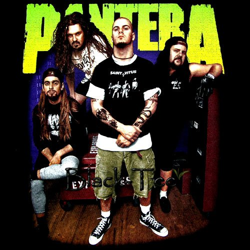 Stores That Accept Paypal Credit Online >> PANTERA BLACK TEE BAND HEAVY METAL T SHIRT SIZE L / D81