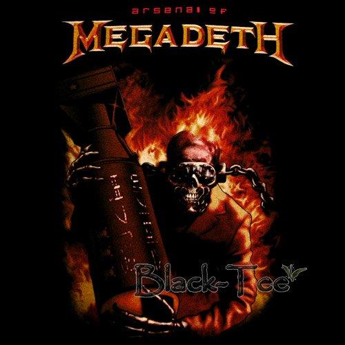 MEGADETH BLACK HEAVY METAL TEE T SHIRT Size M / D23