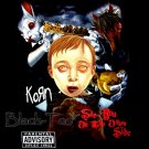 KORN BLACK HEAVY METAL TEE T SHIRT SIZE S / E69