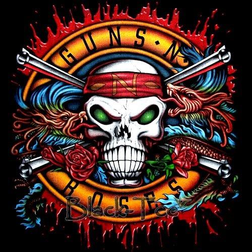 GUNS N ROSES BLACK ROCK TEE T SHIRT SLASH SIZE S / E74