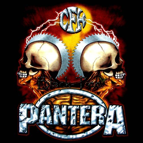 PANTERA BLACK TEE HEAVY METAL T SHIRT SIZE XL / D78